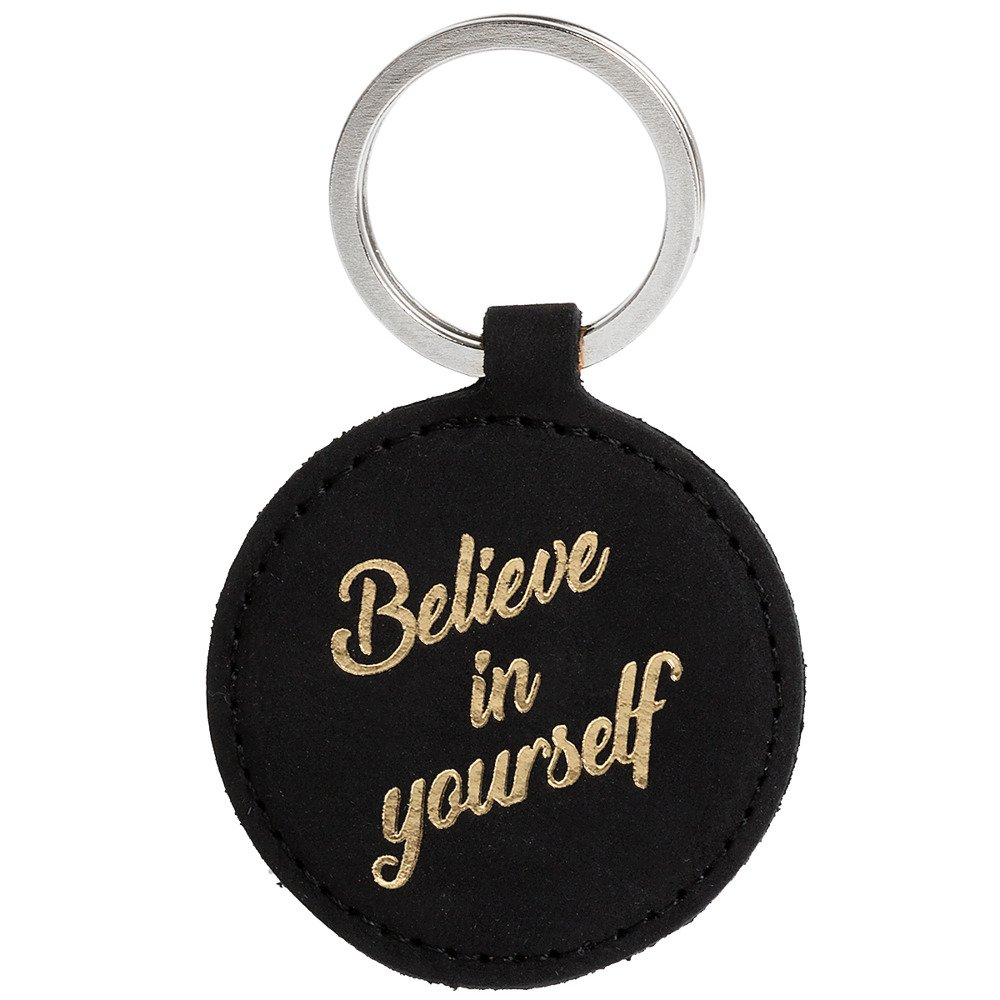 Keychain - Nubuck Black - Believe in yourself