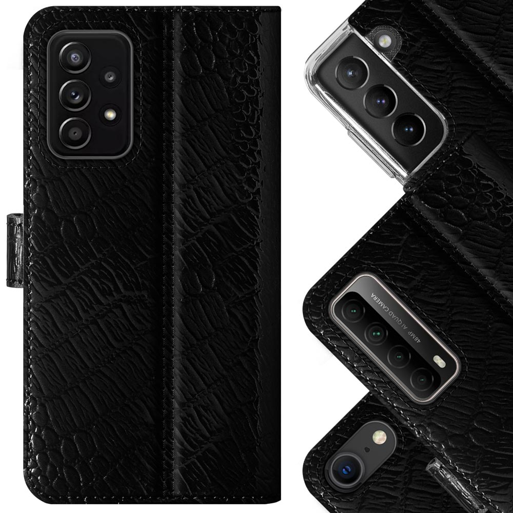 Surazo® Leather Wallet phone case Cayme - Black