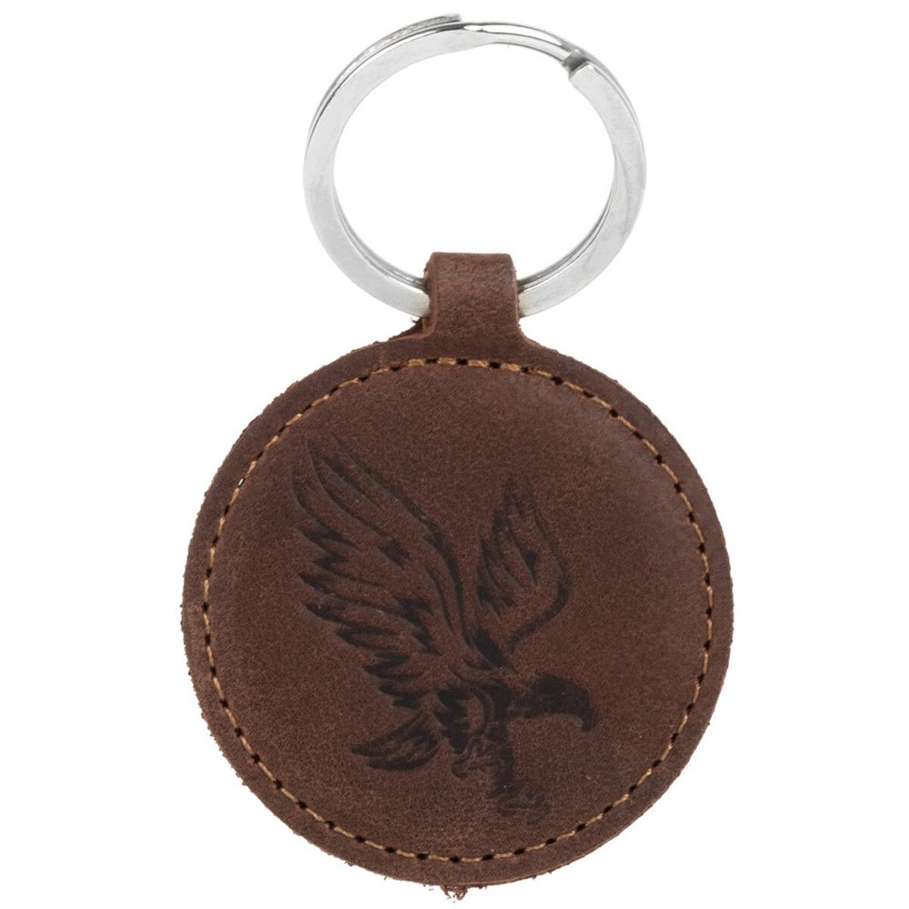 Surazo® Leather Wallet phone case - Nubuck Nut brown - Eagle