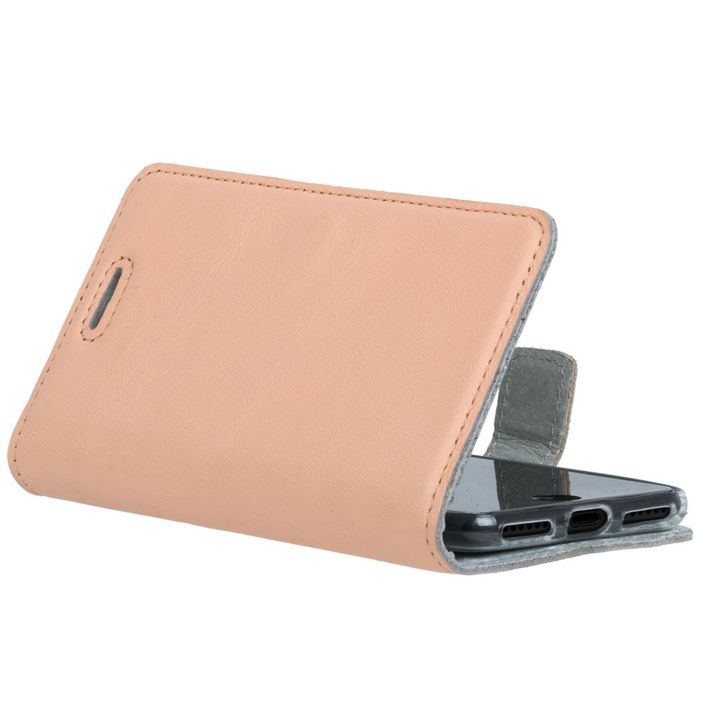 Surazo® Leather Wallet phone case Pastel - Peach