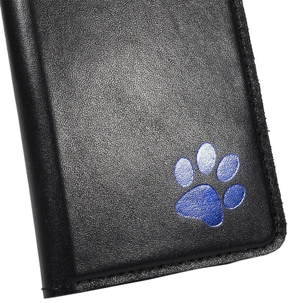 Surazo® Smart Magnet RFID case - Costa Black - Paw blue