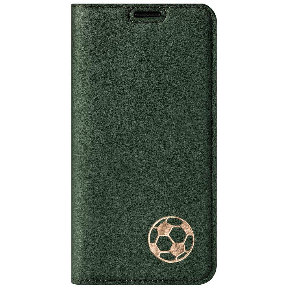 Surazo® Smart Magnet RFID case - Nubuck Dark green - Soccer ball