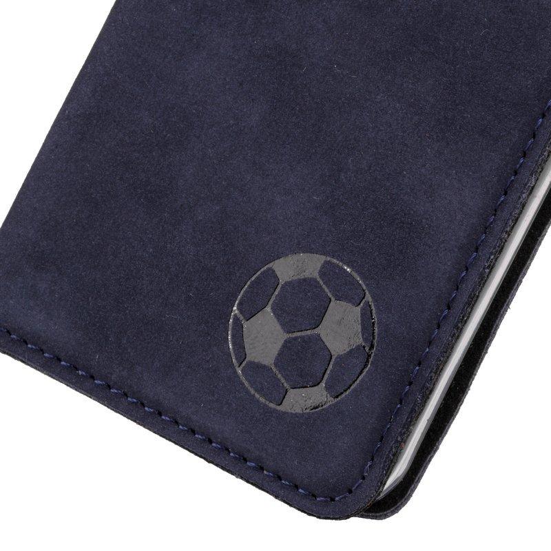 Surazo® Smart Magnet RFID case - Nubuck Navy blue - Soccer ball