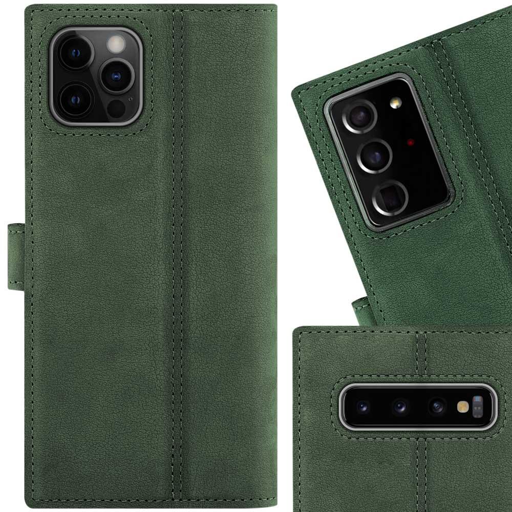 Wallet case - Nubuck Dark Green