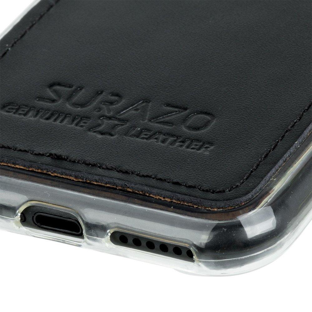 Surazo® Back case Lederhülle Costa - Schwarz