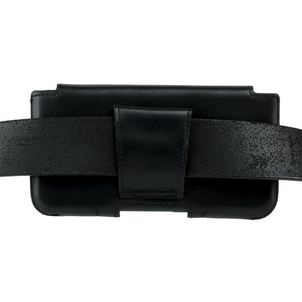 Surazo® Leder Gürtel Hülle - Dakota Schwarz - Angler