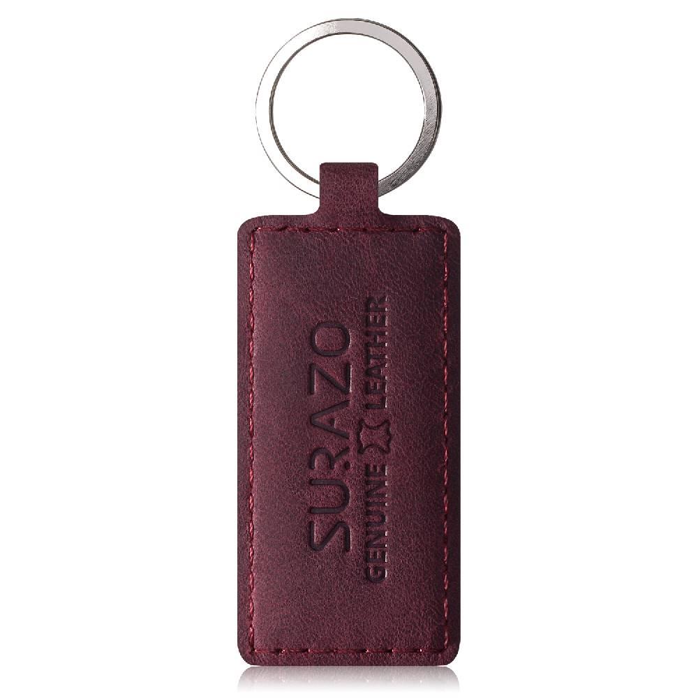 Surazo® Zweifarbige Wallet Lederhülle - Schwarz und Burgund