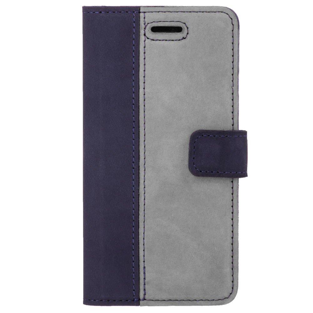 Wallet case - Nubuk Marineblau und Grau