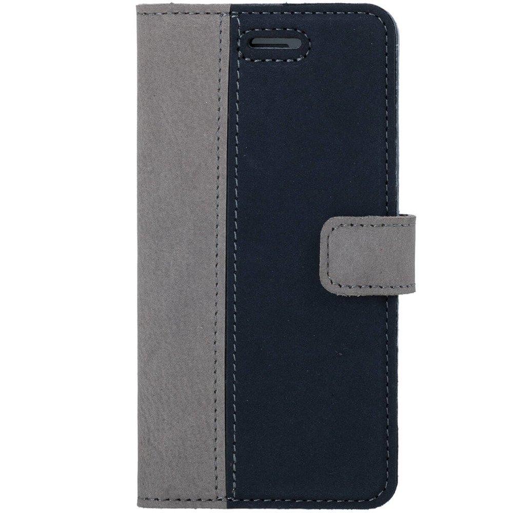 Surazo® Wallet case Duo Nubuk - Szary i Granatowy