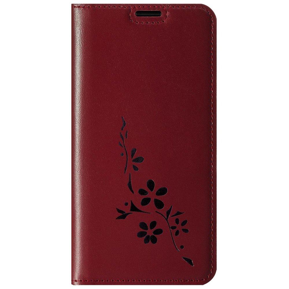 Surazo® Etui Smart Magnet RFID - Costa Czerwony - Kwiaty