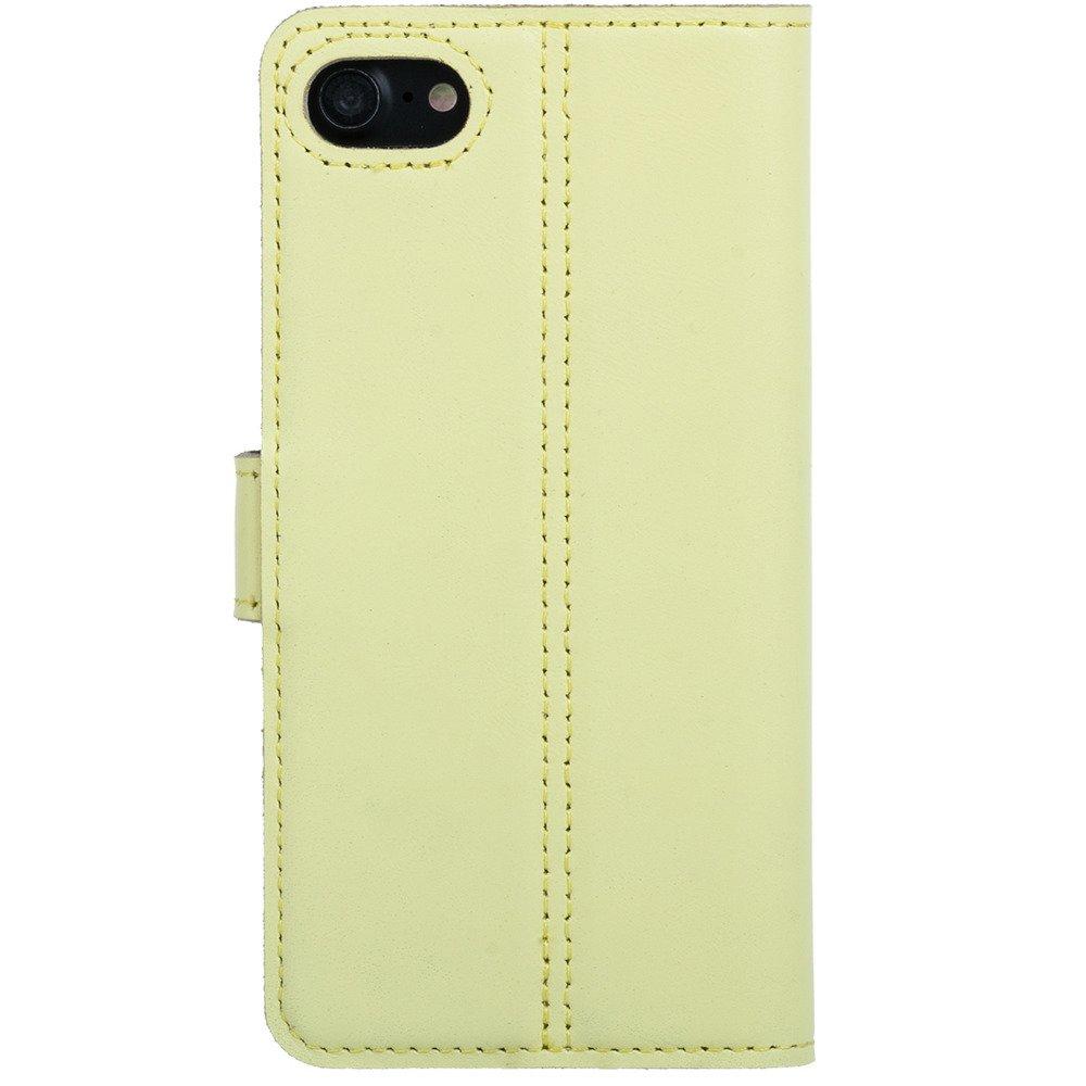 Surazo® Skórzane Etui Wallet case Pastel - Cytrynowy